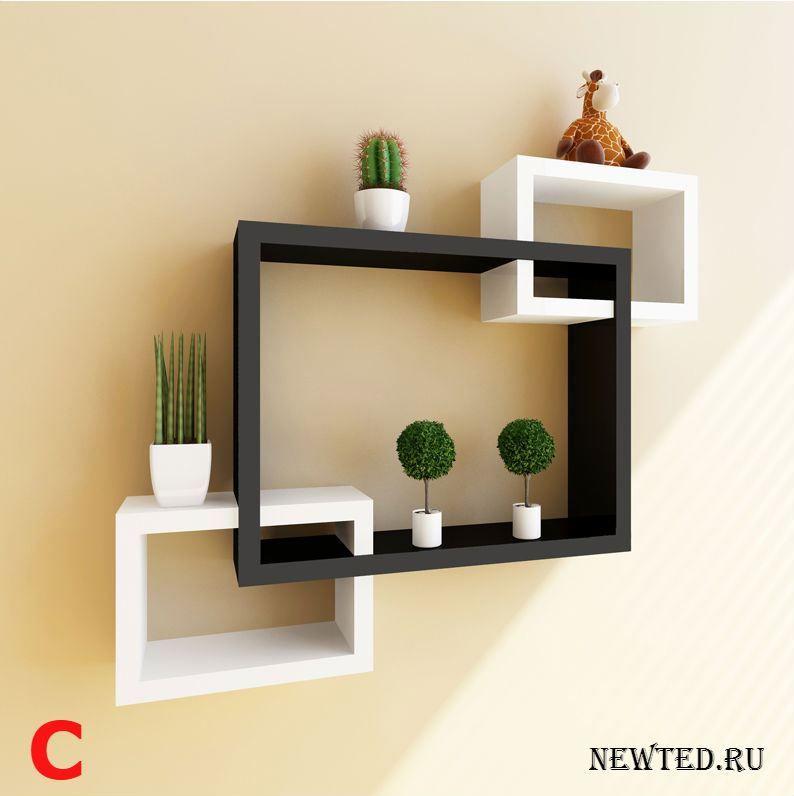 Купить полку настенную с красивым дизайном цена, отзывы в интернет магазине NewTed