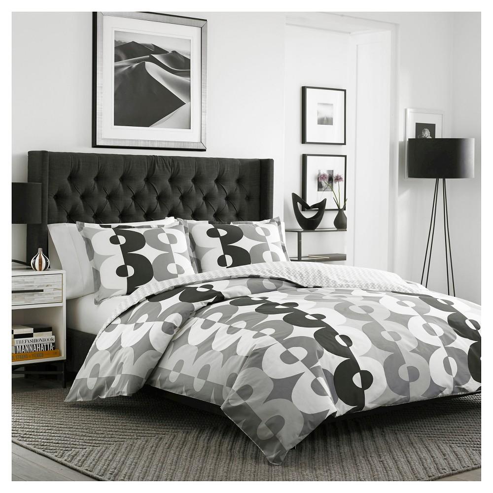 Kelso Comforter And Sham Set FullQueen Gray City Scene City