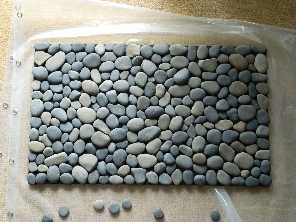 ocean stone bath mat diy ideen pinterest strandgut haus und garten und diy ideen. Black Bedroom Furniture Sets. Home Design Ideas
