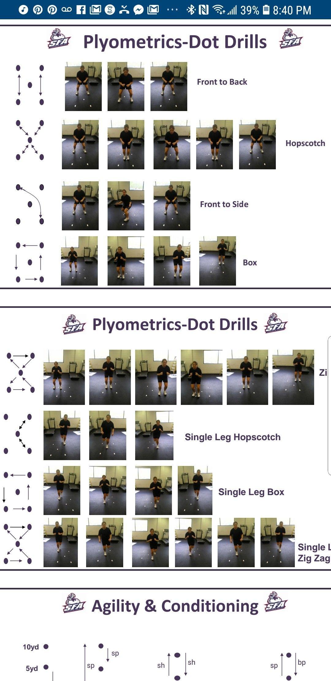 Plyometric Dot Drills Basketball Training Equipment Plyometrics Tennis Workout