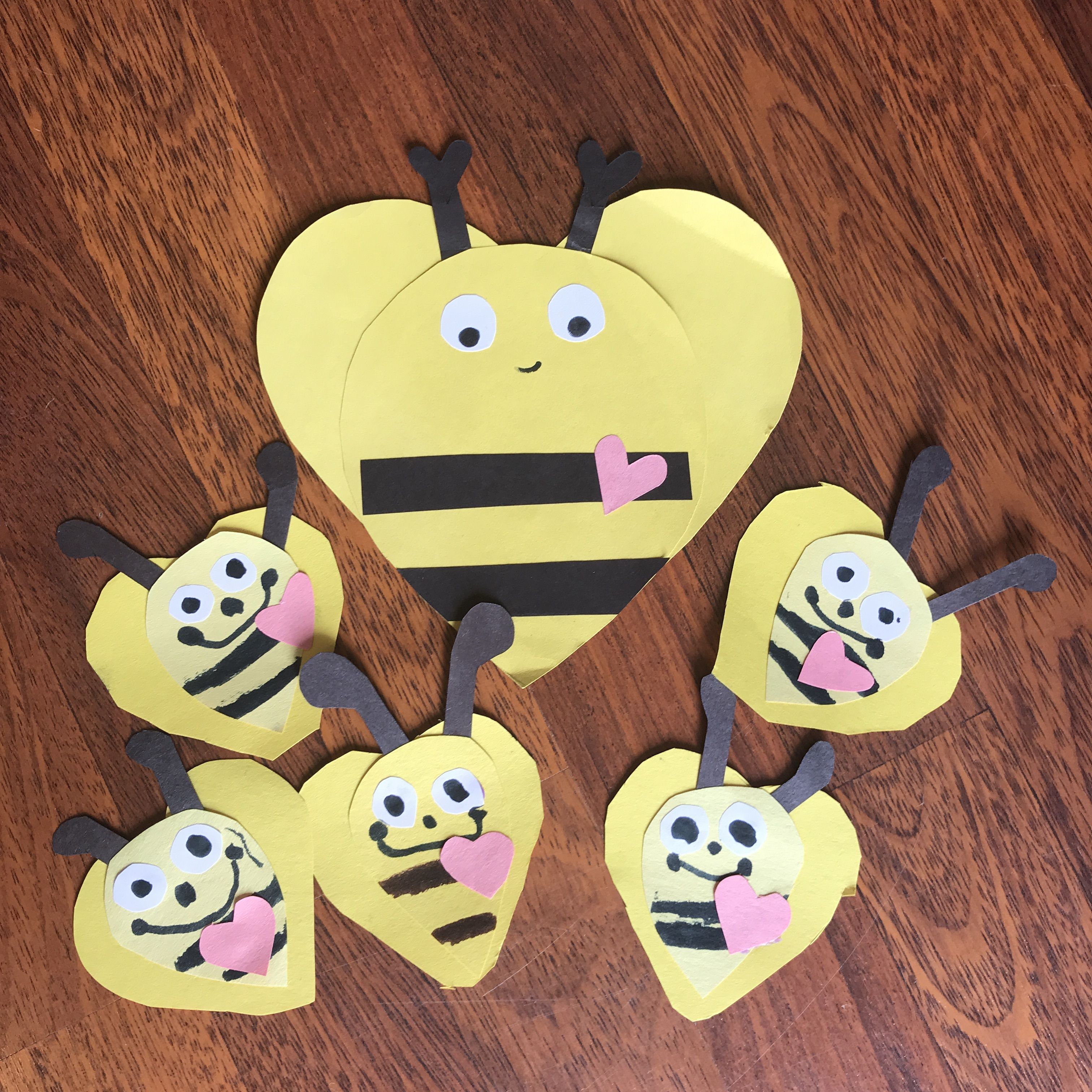 Diy Valentines Cards For Teachers Bumble Bee Hearts