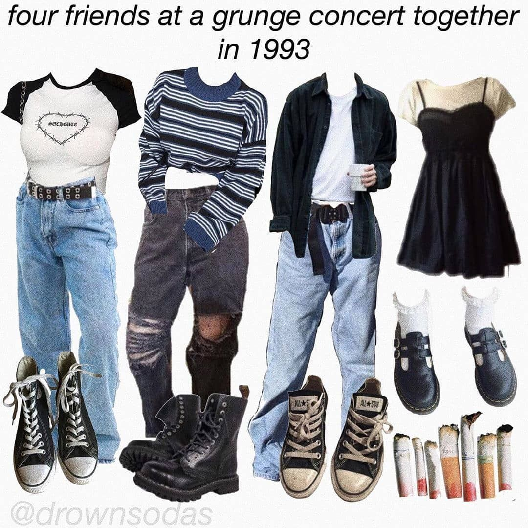 "Grunge Inspo on Instagram: ""which one are you? :) . follow @metallicastyle for more� . cr: unknown"""