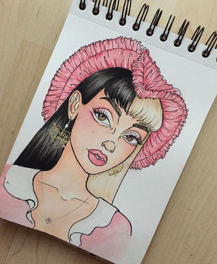 Melanie Martinez Pink Dream Print Kristine Draws Melanie Martinez Drawings Art Sketchbook Sketch Book