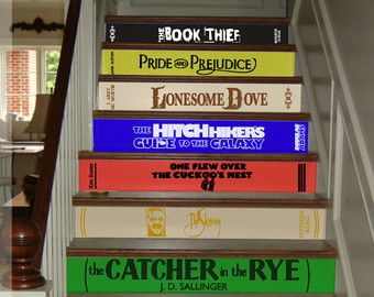 Classic Books Stair Decals Famous By HorseFeathersDecals On Etsy