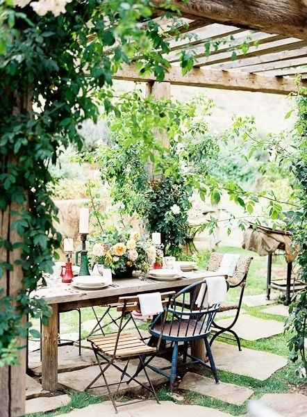 The Home Depot Patio Challenge The Before Rustic Pergola