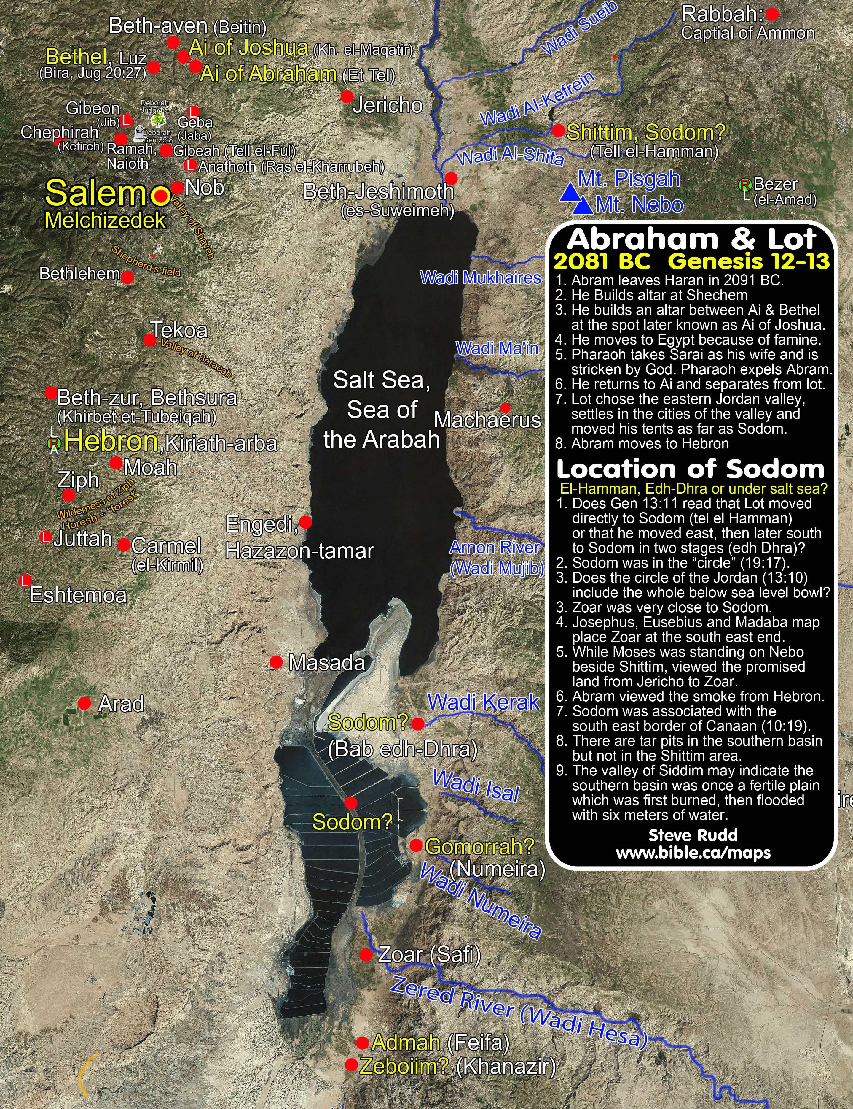 Abraham Van Lot Gescheiden En De Ligging Van Sodom