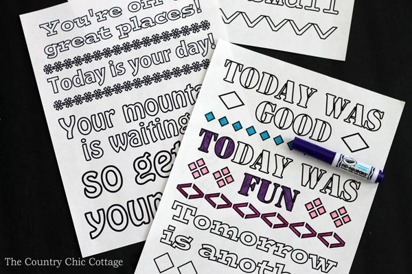 Coloring Pages Quotes For Adults : Free dr seuss coloring pages adult coloring kid activities and