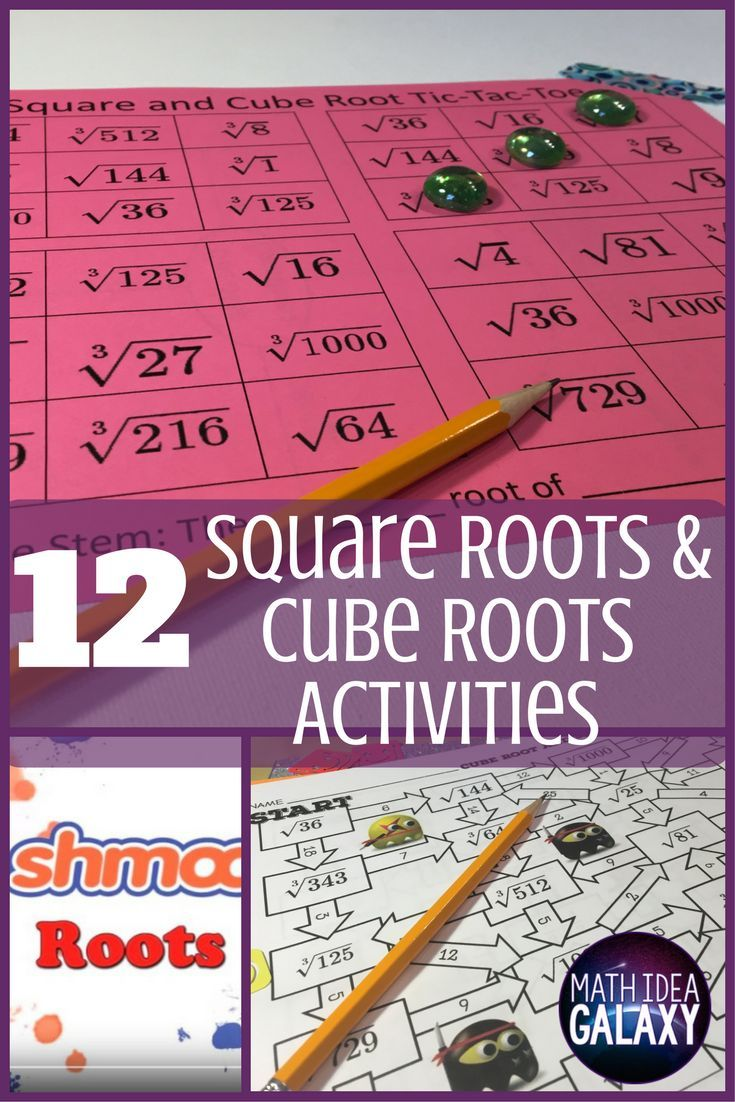 Read this blog post for 12 engaging activities for practicing square roots  and cube roots. Includes…   Square roots [ 1102 x 735 Pixel ]