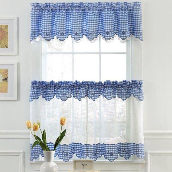 Bedbathstore.com. Tier CurtainsWindow CurtainsBlue GinghamGingham ...
