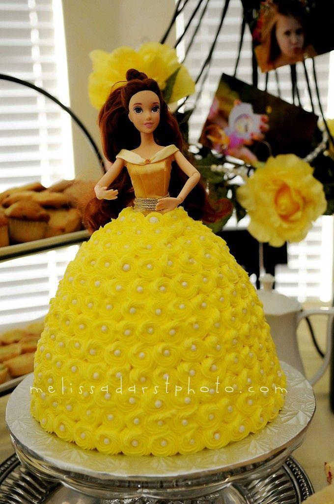 belle cake birthday party Pinterest Belle cake Belle and Cake