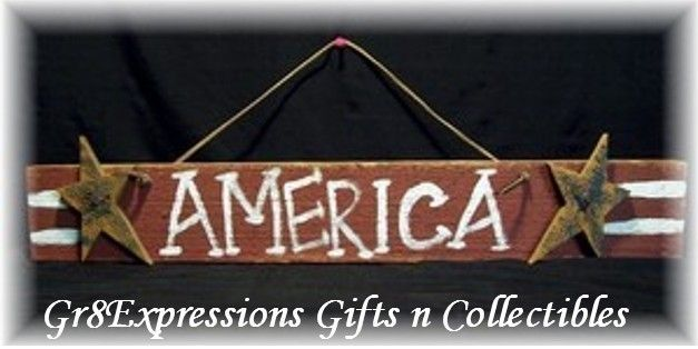 Americana Wall Decor Plaques Signs Primitive Americana Wooden America Wall Plaquesign~New