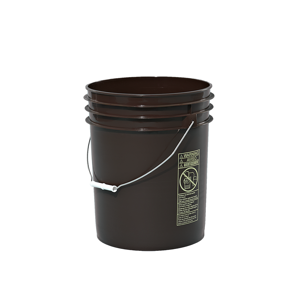 5 Gallon Brown Plastic Round Open Head Pail W Metal Bail Fda Approved With Images Plastic Pail Pail Metal