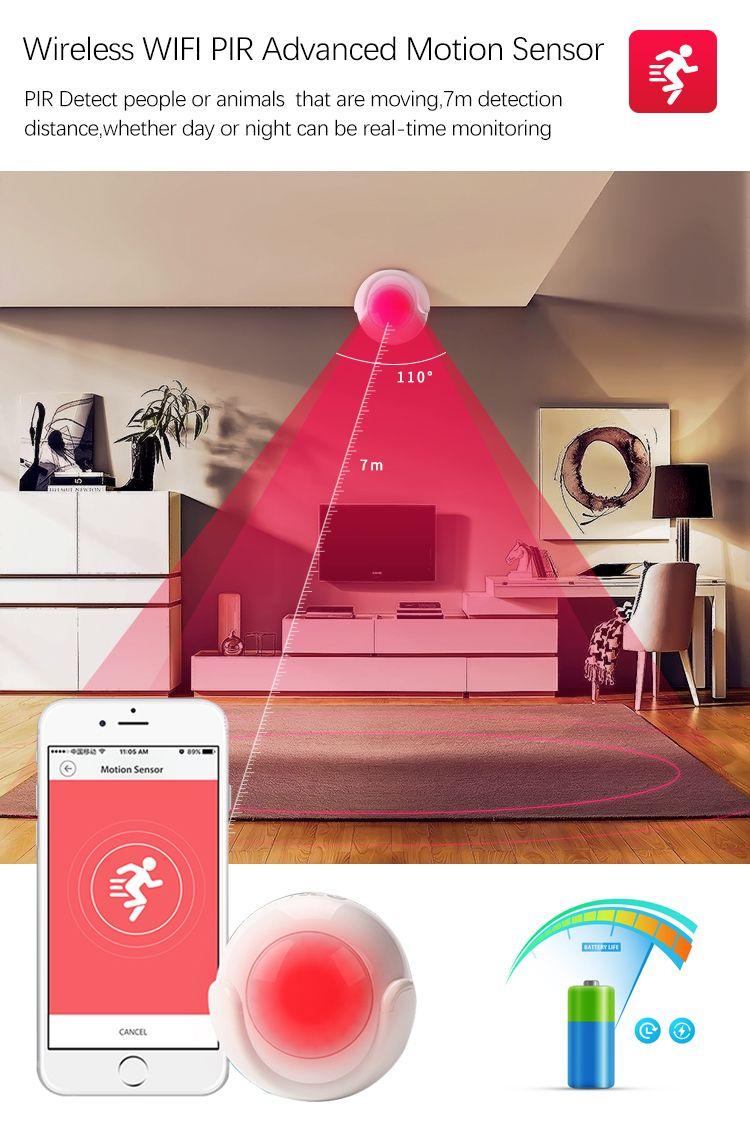 Smart Wifi Pir Motion Sensor Wireless Home Security Systems Home Security Wireless Home Security