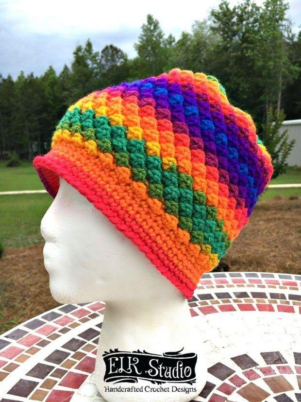 Home » Patterns » [FREE Pattern] Beautiful Multicolor Crochet Beanie ...