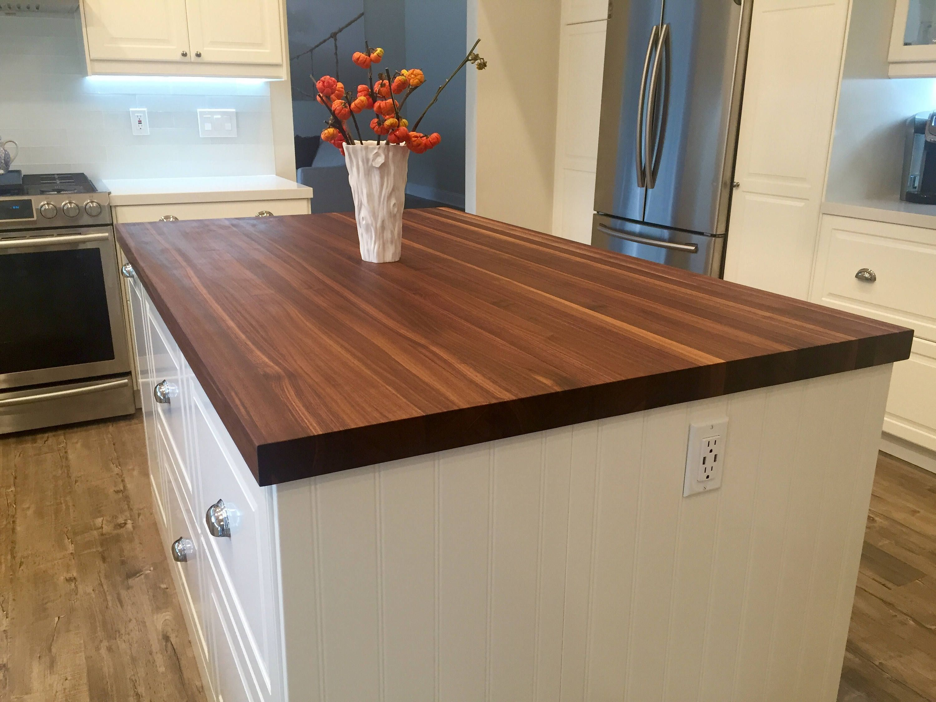 Black Walnut Butcher Block Counter Top Island Top Walnut