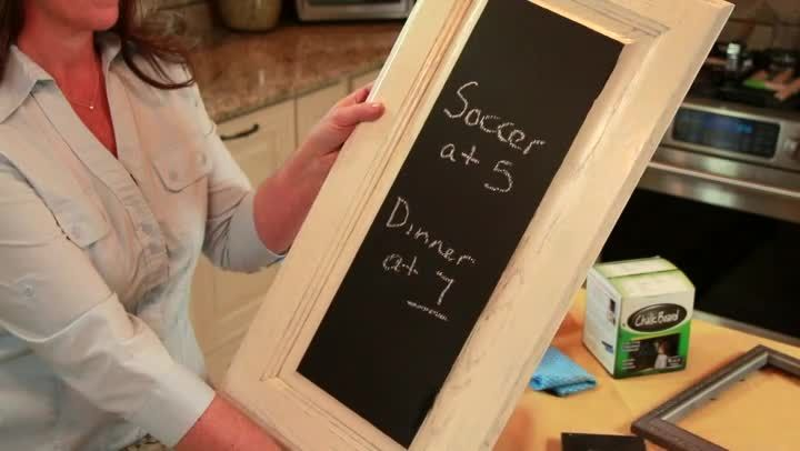 Video: How to Make a Chalkboard Home Decor Project