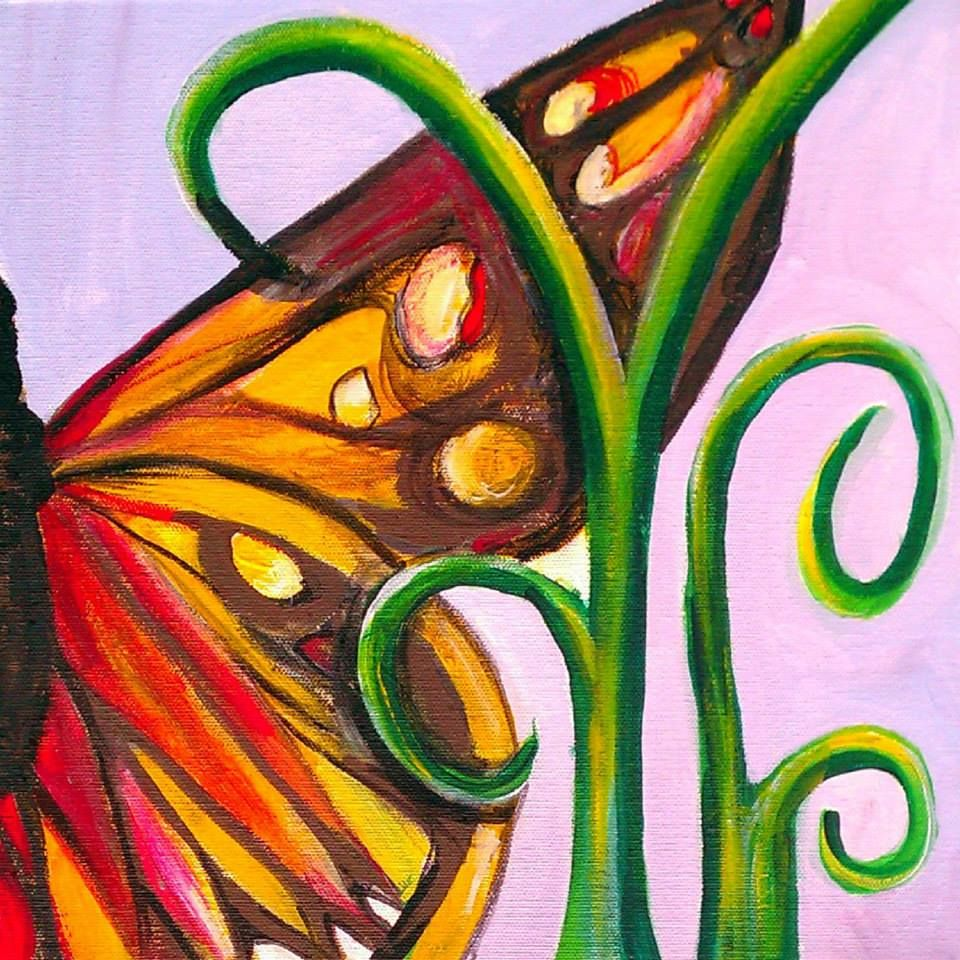 """""""Metamorphosis"""" Acrylic on stretched canvas. © 2012 Julie Joaquin."""