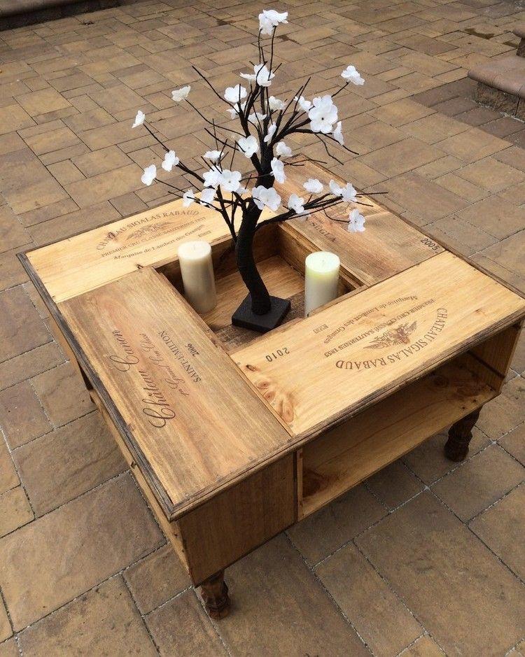 Tisch aus Weinkisten bauen – 12 praktische DIY Ideen und Bauanleitungen