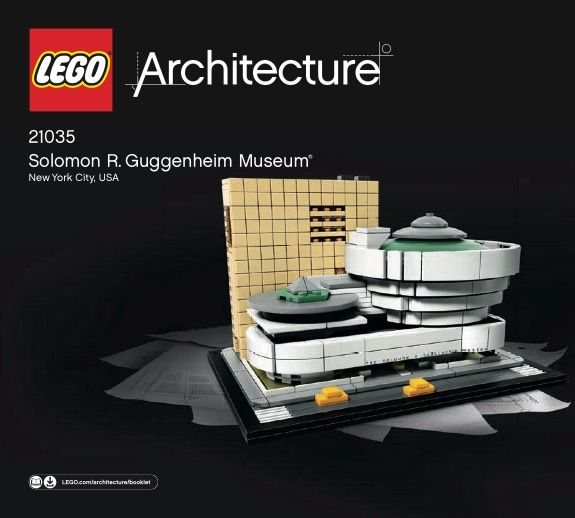 View Lego Instructions For Solomon R Guggenheim Museum Set Number