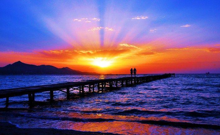 Cara Membuat Efek Sunset Pada Foto Dengan Adobe Photoshop Cs3 Mudah Http Www Pro Co Id Cara Membuat Efek Sunset Fotografi Alam Matahari Terbenam Lanskap