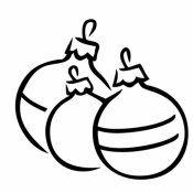 bola de navidad para colorear dibujos para nios