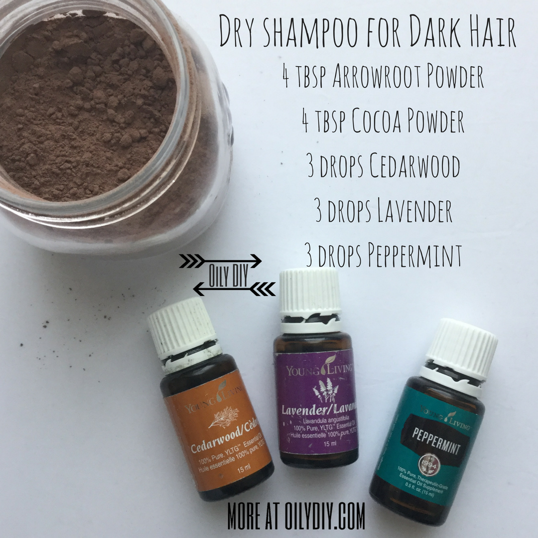 Dry Shampoo For Dark Hair Diy Dry Shampoo Dry Shampoo Essential Oils For Hair