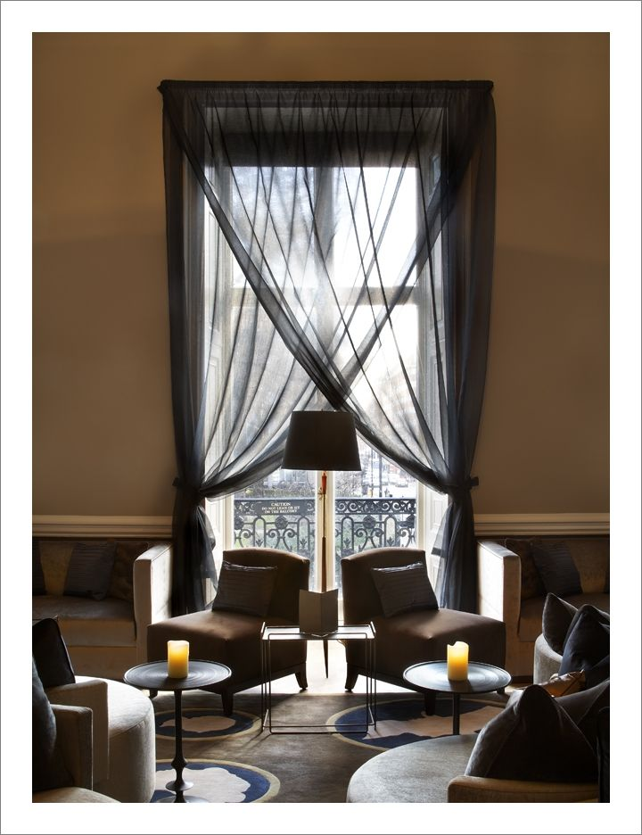 Black Sheer Curtains With Roman Blind. Home House