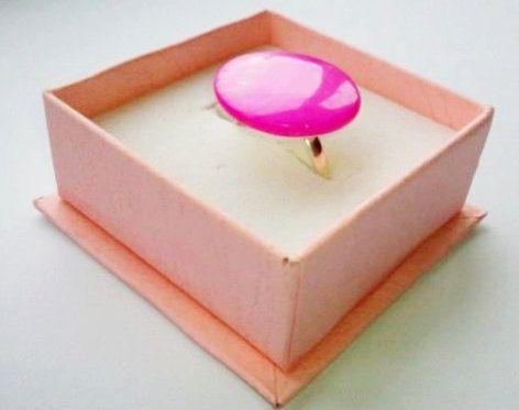 Hot pink ring