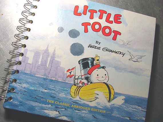 It aint the size of your Hull its the Size of your HEART!  Vintage CLASSIC LITTLE TOOT  Altered Book by theChineseLaundry, $10.00