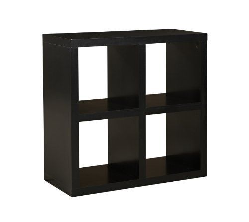 Linon Home Decor Hollowcore 4 Cube Square Bookcase Black By Linon Home Decor 118 33 Black Finish Made From Engineered Wood And L Cube Organizer Home Decor Bookcase