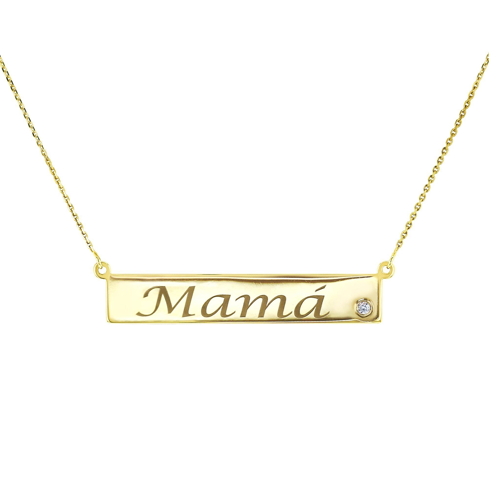 15be2263e2f15 Custom Gold Name Plate Necklace + Diamond in 2019 | Celebrations ...