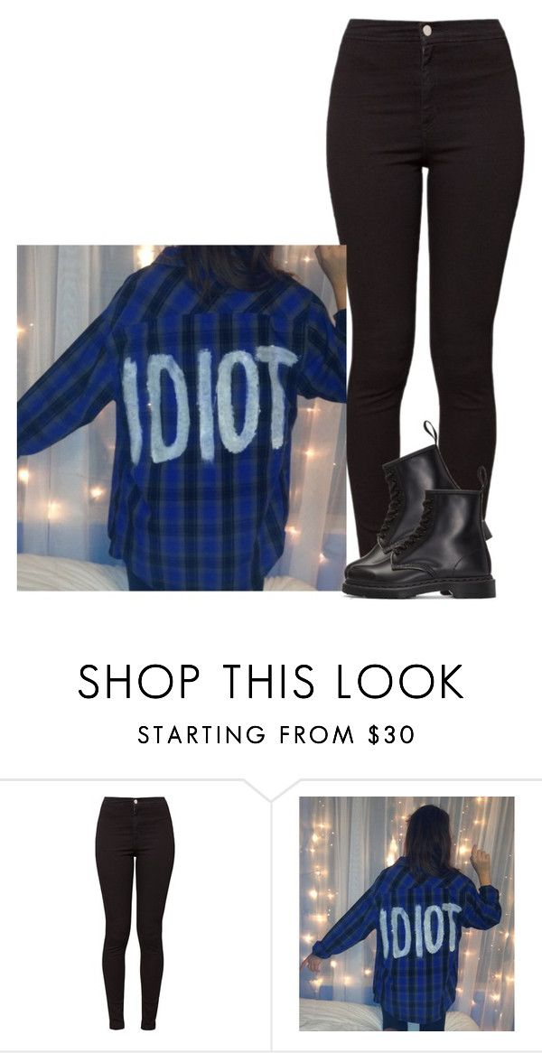 """Michael Clifford - Female Version"" by alexa432 ❤ liked on Polyvore featuring American Apparel and Dr. Martens"