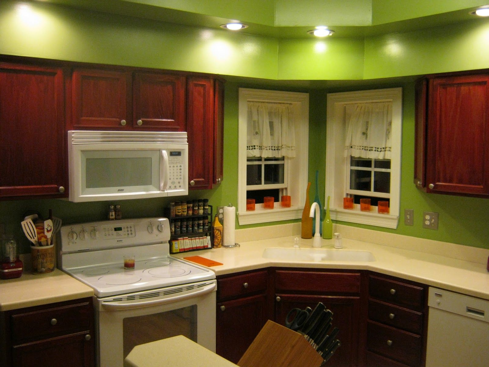 Refresh With Painted Kitchen Cabinet: New Kitchen Wall Paint Ideas With  Kitchen Color Ideas Oak Cabinets Kitchen Paint Color Ideas For Kitchen ~  Kitchen ...