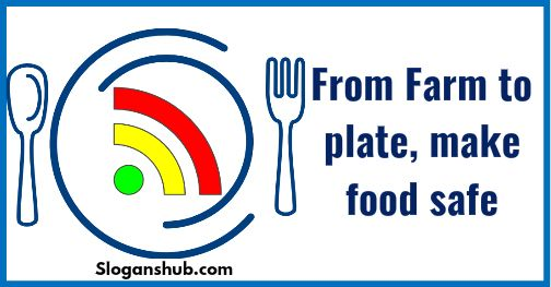 From Farm To Plate Make Food Safe Food Safety Slogan Safety Slogans Food Safety Slogan
