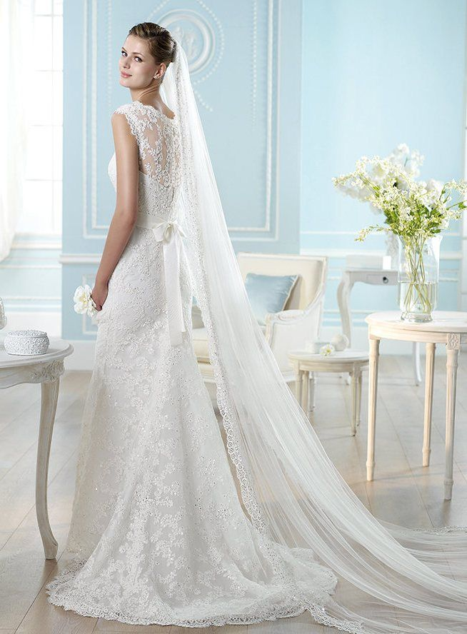 San Patrick Haliza Beaded Lace Wedding Gown With Lovely Neckline