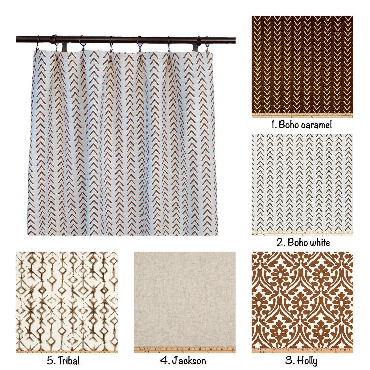 Caramel Brown Curtains Tan Curtains 2 Curtain Panels Curtains