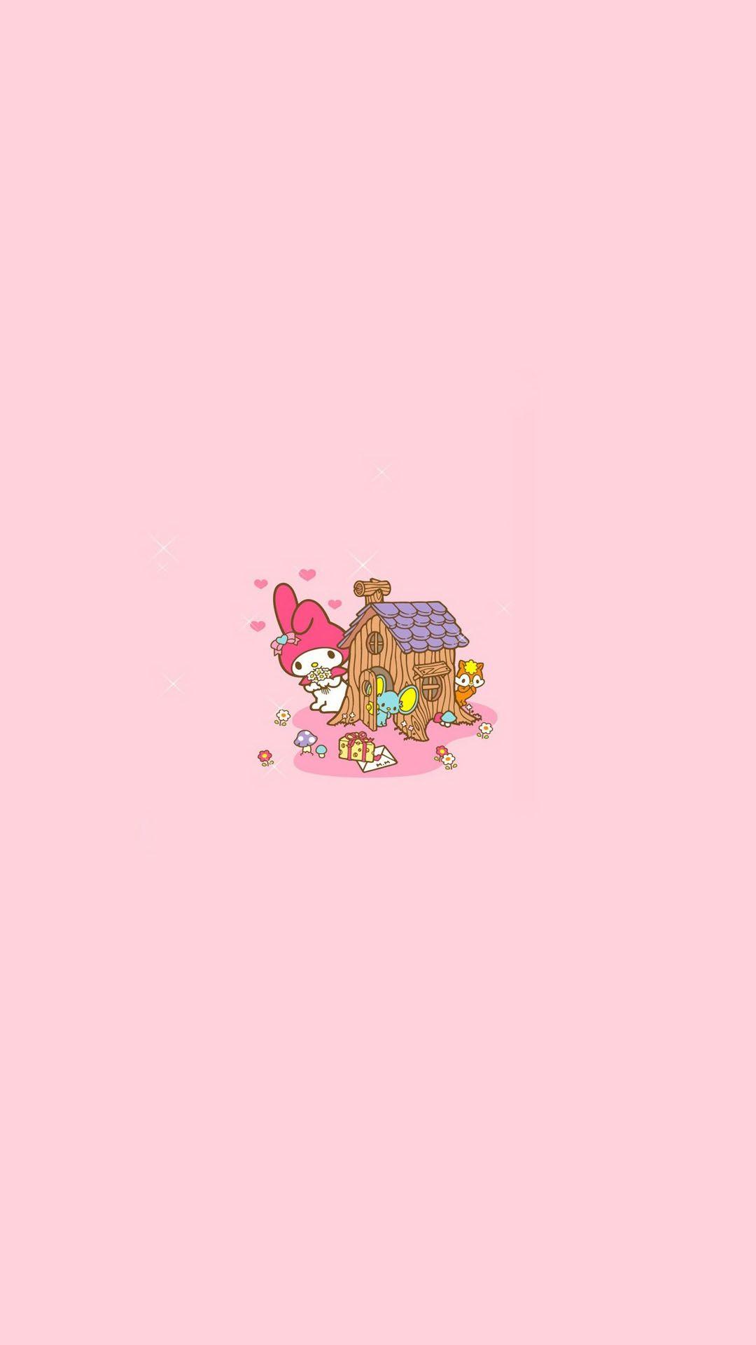 Pink Cartoon Character Character Wallpaper Cartoon Wallpaper Personalized Wallpaper