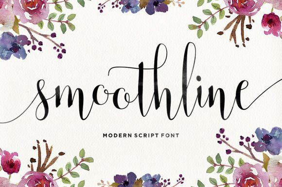 Smoothline script by area type studio on creative market