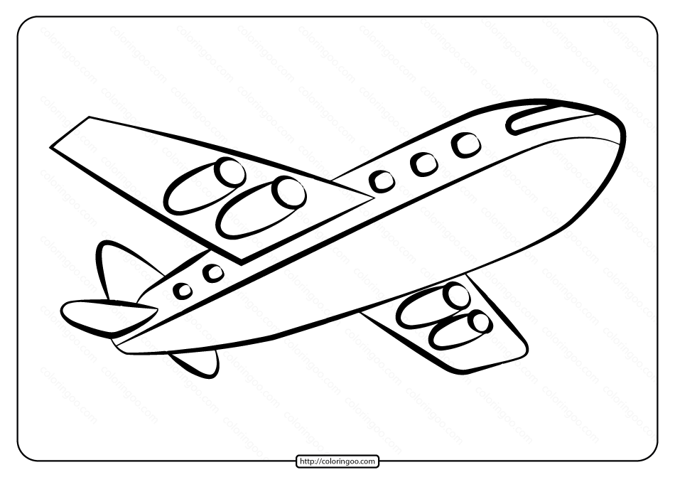 Free Printable Airplane Pdf Coloring Page 05 Coloring Pages Color An Aeroplane