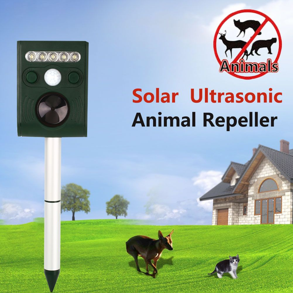 Drop Shipping Solaire Animaux A Ultrasons Antiparasite Scarer Repulsif Jardin Mes Poules Poulailler Animaux Poulailler Jardins