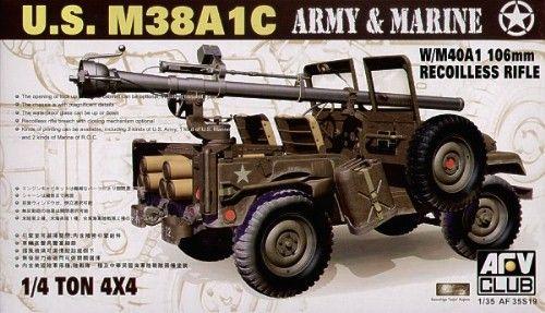 Jeep M38 w/106 mm Gun - AFV Club 35S19 - Maquette - English
