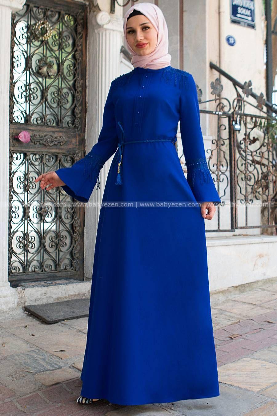 Yeni Sezon Omuz Puskullu Elbise Saks Fahima Modeli Yurt Ici Ve Yurt Disi Kargo Avantajlariyla Bahyezen Com Da Satista Tesettur Tesettur Giyim Abiye Elb Gaun