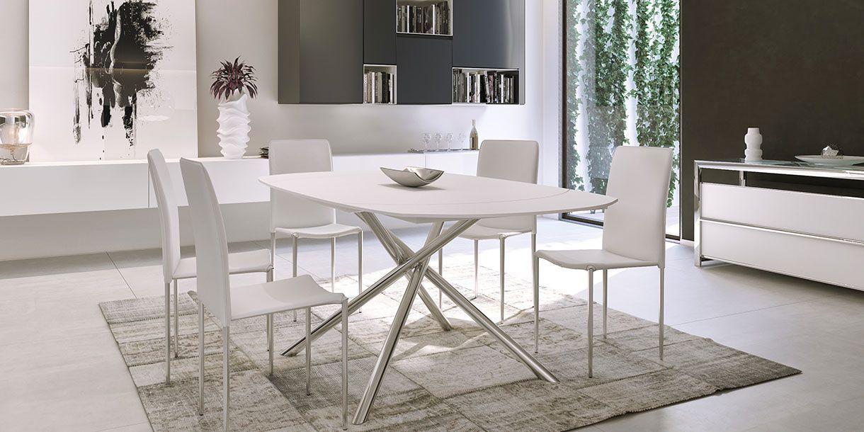 Astro Extendable Dining Table White Grey Dining Tables Dining