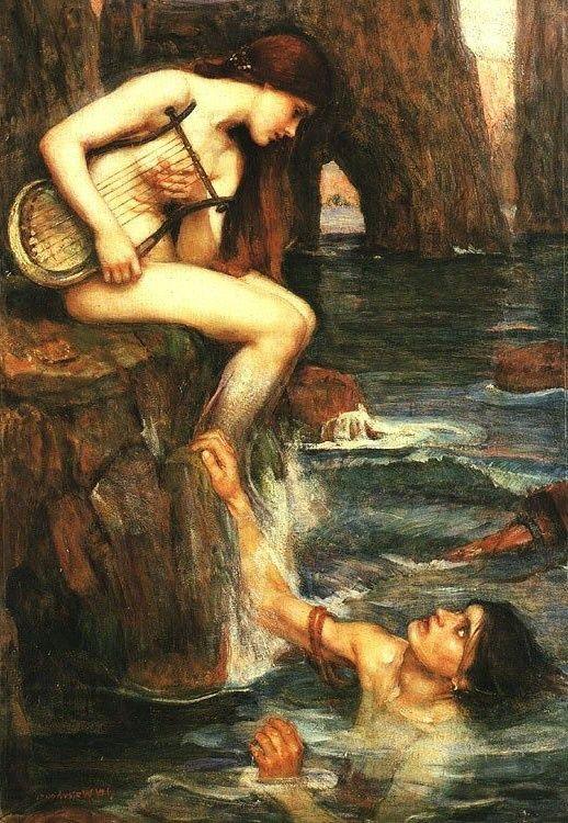 The Siren Greek Myths Art John William Waterhouse Mermaid Painting Replica