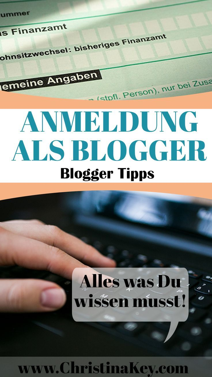 Anmeldung als Blogger - So geht's! - Kreative Fotografie Tipps und Foto Hacks
