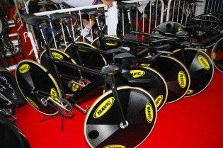 team gb, track bikes