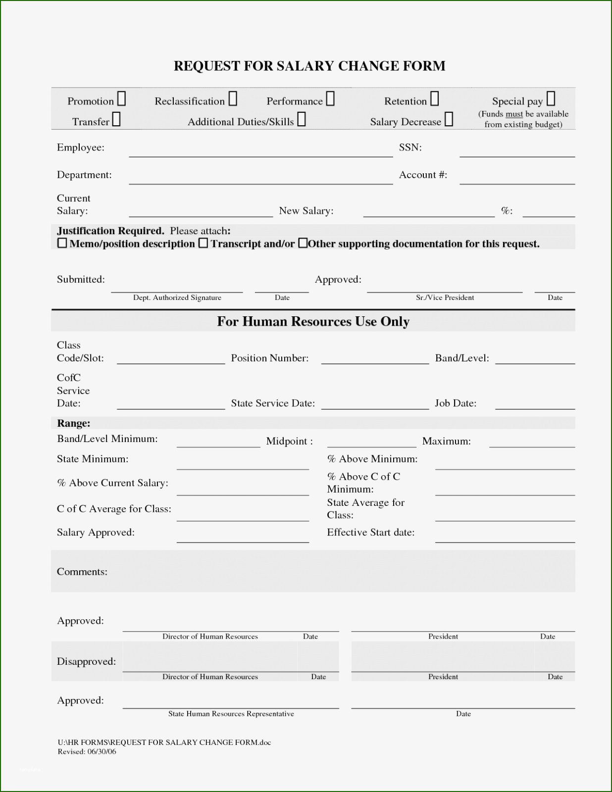 17 Unparalleled Employee Status Change form Template in