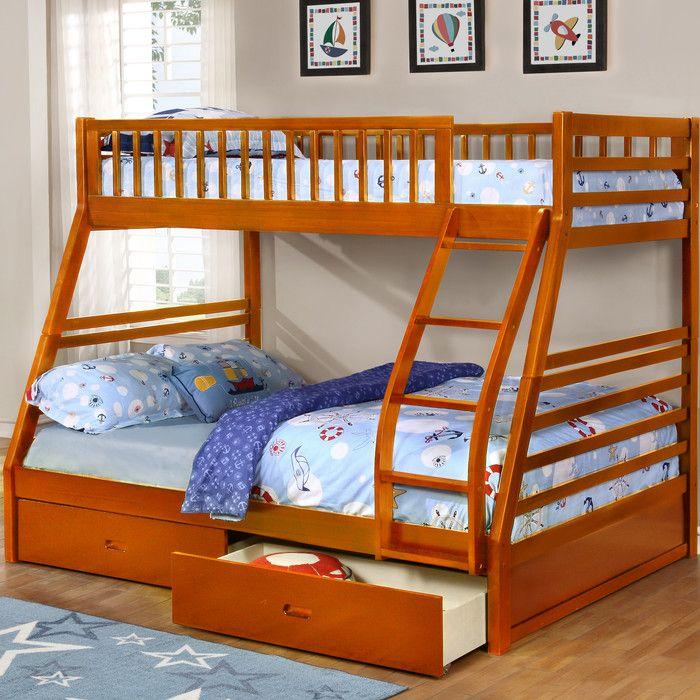 Wildon Home ® Dakota Twin Over Full Bunk Bed U0026 Reviews   Wayfair