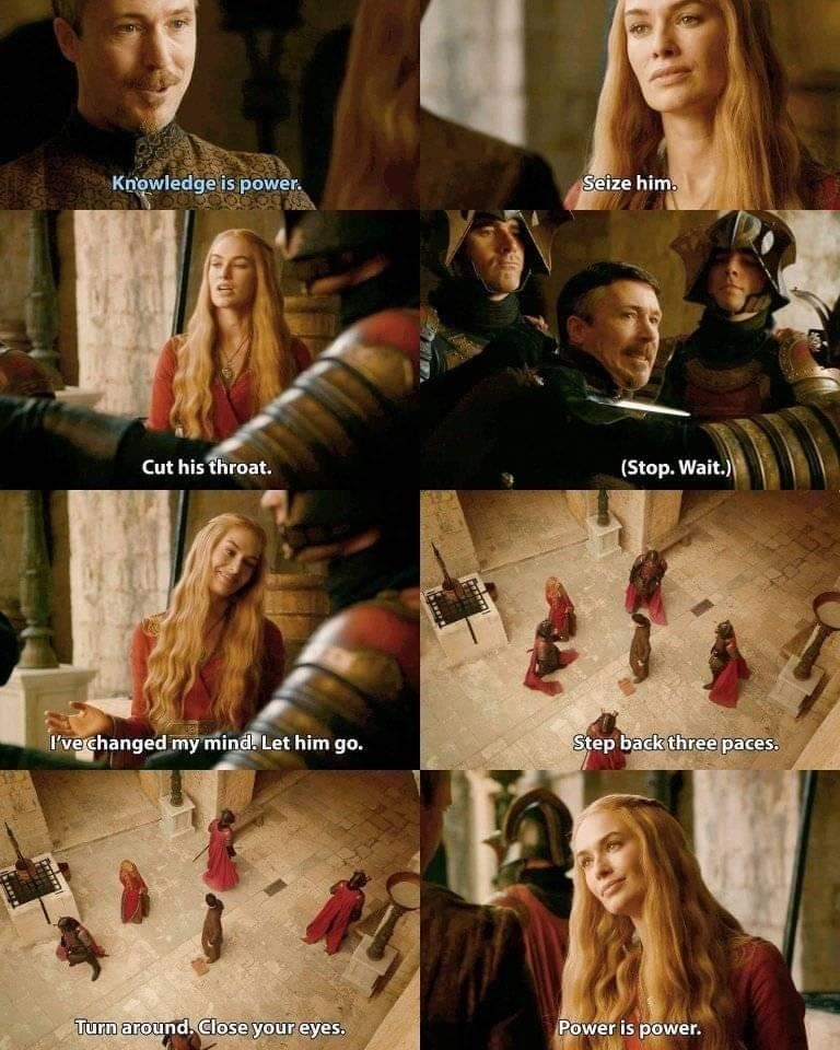Image result for cersei petyr power is power