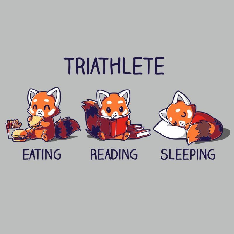 Triathlete Reading T Shirt Mens M Love Book Cute